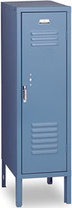 Vertical Single Tier, 1-Wide, Half Size Locker offered by Capital Bedding Company