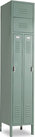 Vertical Double Tier, 1-Wide Locker offered by Capital Bedding Company