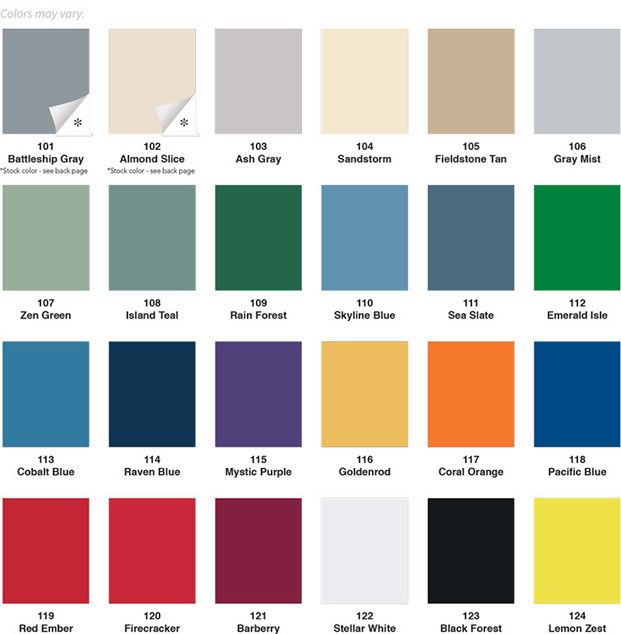Color Options for Lockers and Cabinets