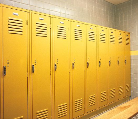 Lemon Zest colored lockers offered by Capital Bedding Company